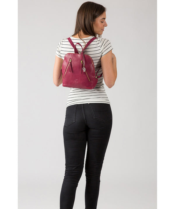 'Zoe' Orchid Leather Backpack image 2