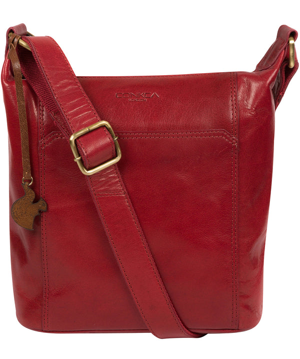 'Yasmin' Chilli Pepper Leather Cross Body Bag image 1