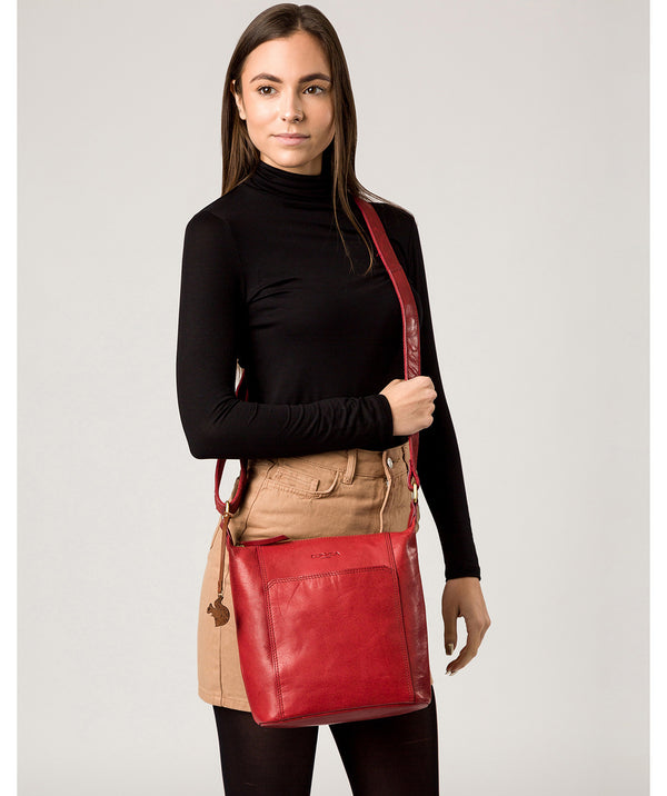 'Yasmin' Chilli Pepper Leather Cross Body Bag image 2