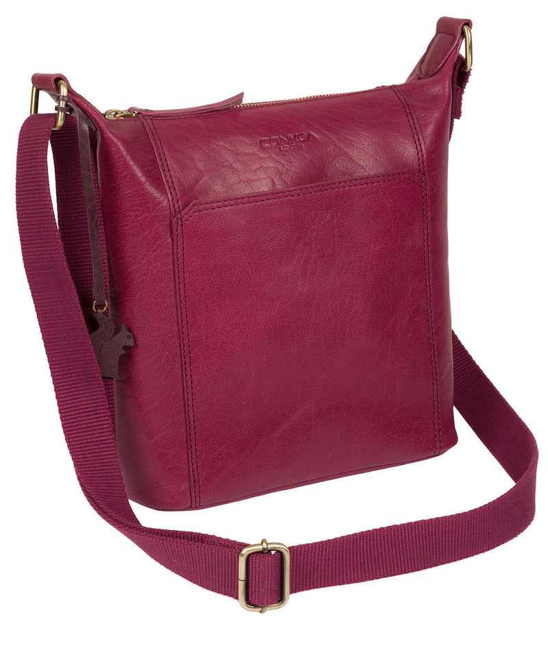 'Yasmin' Orchid Leather Cross Body Bag image 3