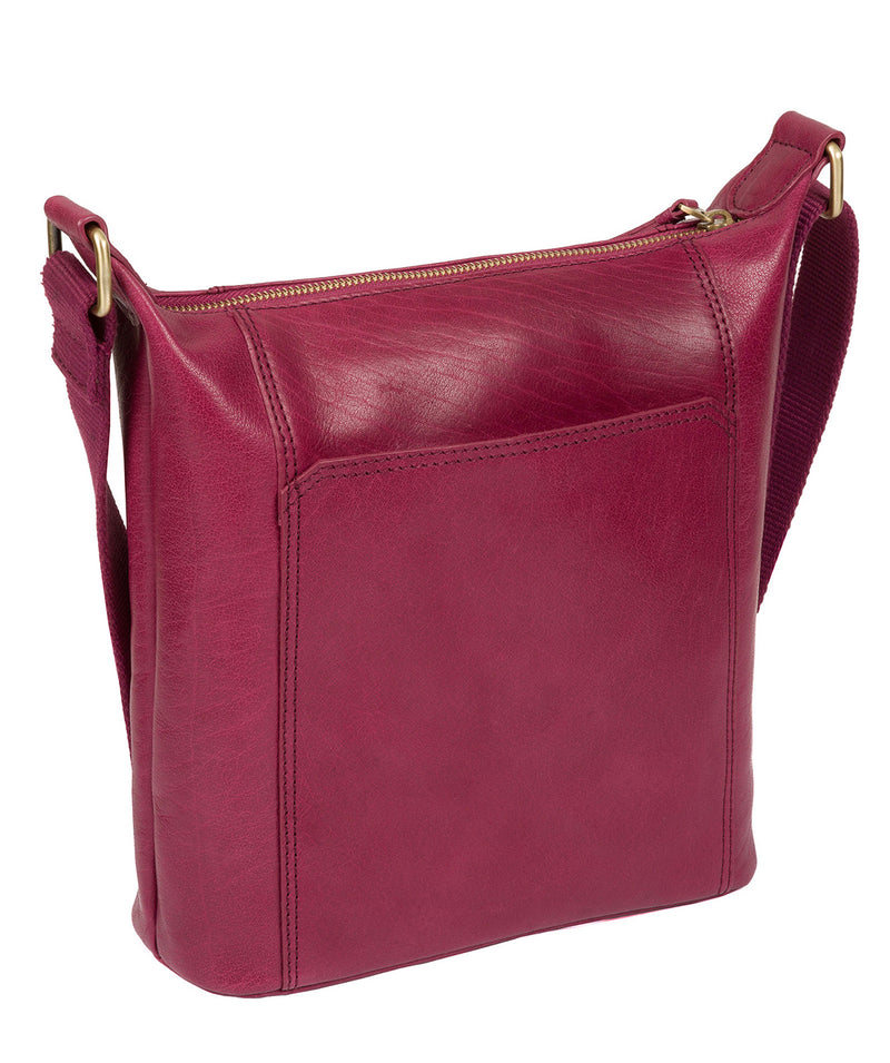 'Yasmin' Orchid Leather Cross Body Bag image 7