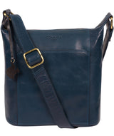 'Yasmin' Snorkel Blue Leather Cross Body Bag image 1