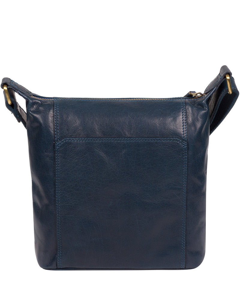 'Yasmin' Snorkel Blue Leather Cross Body Bag image 3