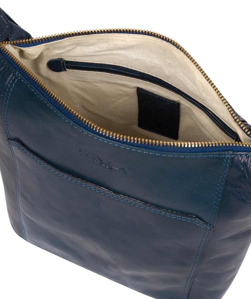 'Yasmin' Snorkel Blue Leather Cross Body Bag image 4