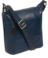 'Yasmin' Snorkel Blue Leather Cross Body Bag image 5