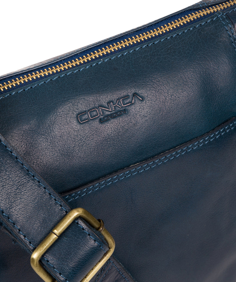 'Yasmin' Snorkel Blue Leather Cross Body Bag image 6