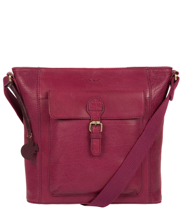 'Vonda' Orchid Leather Cross Body Bag image 1