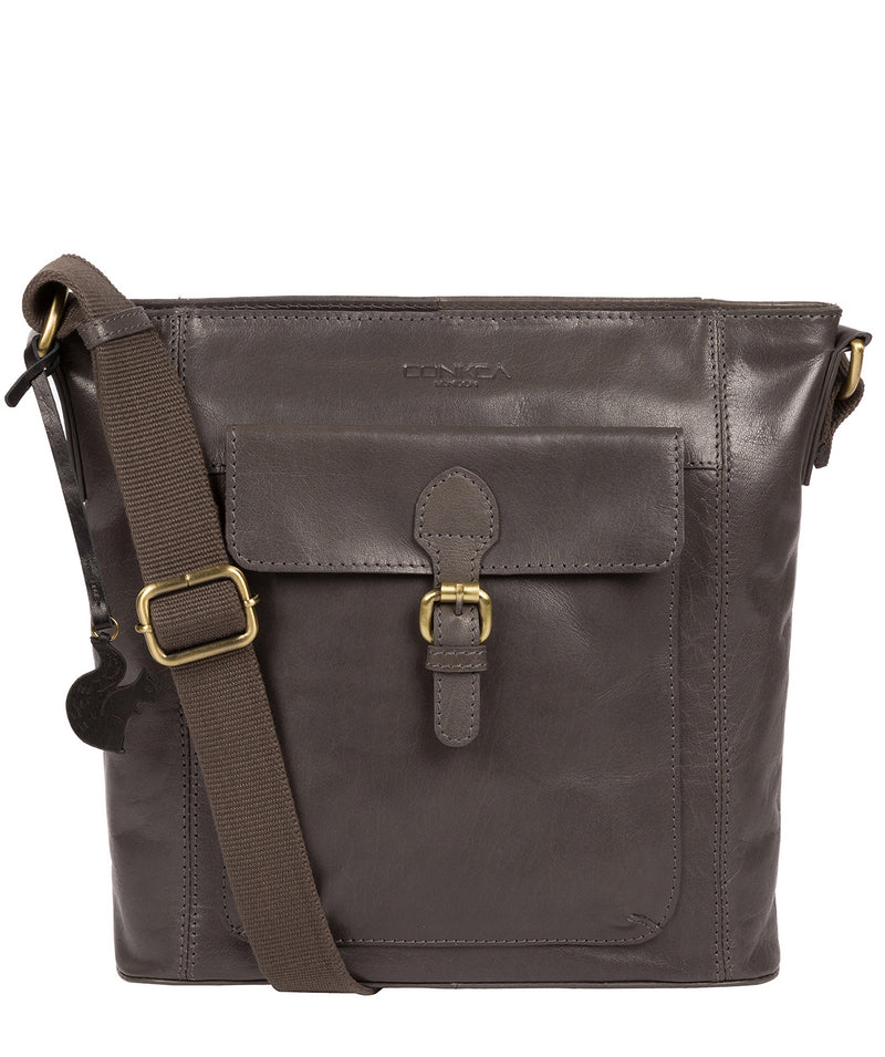 'Vonda' Slate Leather Cross Body Bag image 1