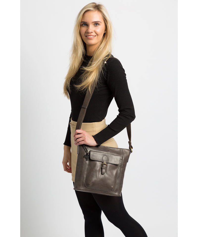 'Vonda' Slate Leather Cross Body Bag image 2