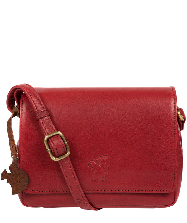 'Marta' Chilli Pepper Leather Cross Body Bag image 1