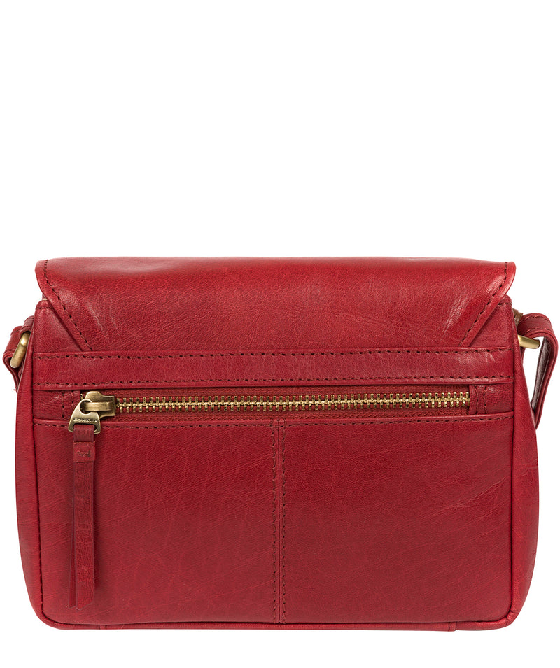 'Marta' Chilli Pepper Leather Cross Body Bag image 3