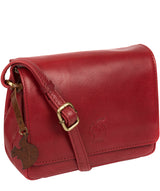 'Marta' Chilli Pepper Leather Cross Body Bag image 5