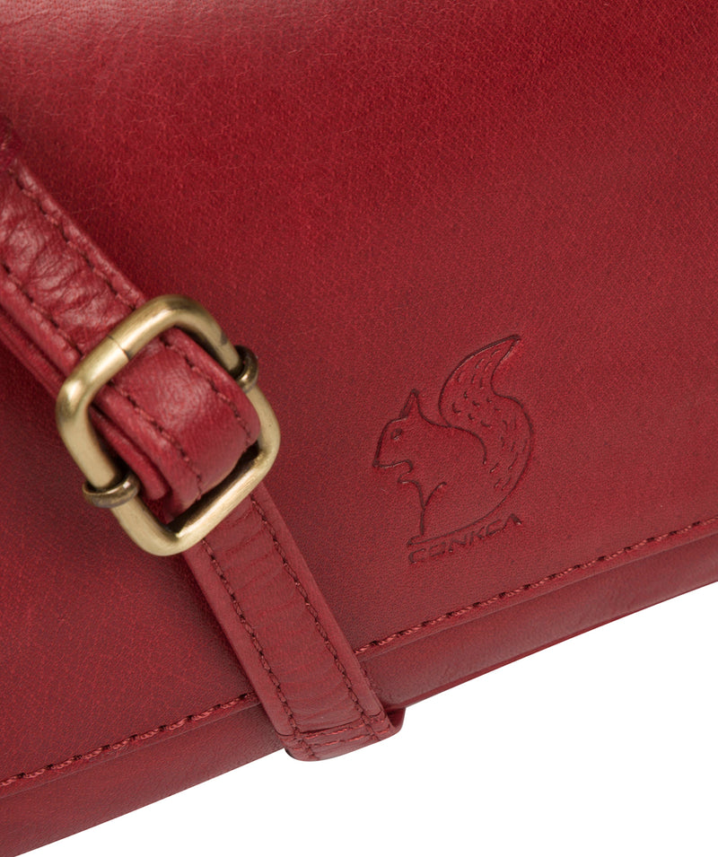 'Marta' Chilli Pepper Leather Cross Body Bag image 6
