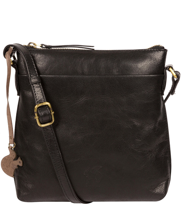 'Nikita' Black Leather Cross Body Bag image 1