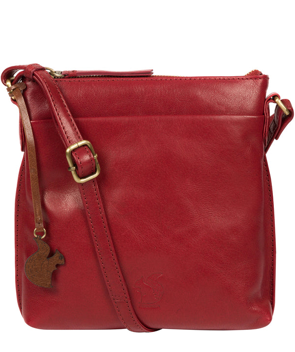 'Nikita' Chilli Pepper Leather Cross Body Bag image 1