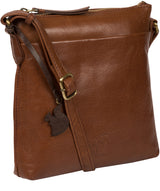 'Nikita' Conker Brown Leather Cross Body Bag Pure Luxuries London