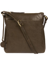 'Nikita' Olive Leather Cross Body Bag image 1