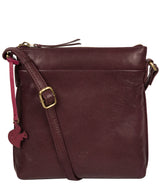 'Nikita' Plum Leather Cross Body Bag image 1