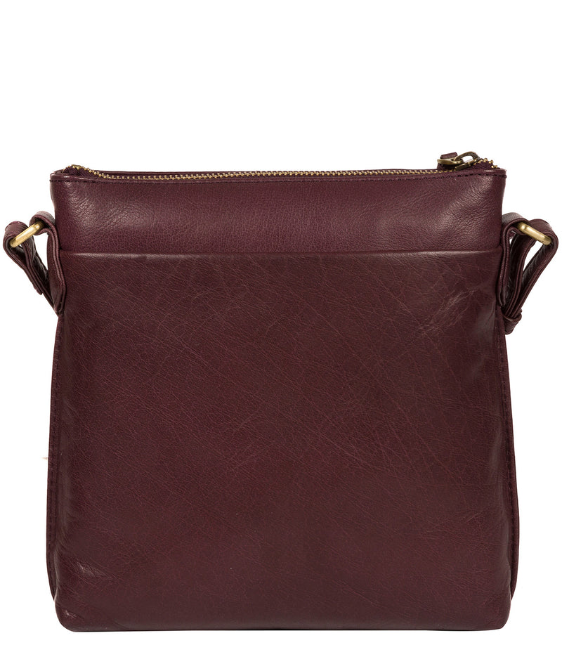 'Nikita' Plum Leather Cross Body Bag image 3