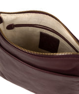 'Nikita' Plum Leather Cross Body Bag image 4