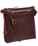 'Nikita' Plum Leather Cross Body Bag image 5