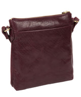 'Nikita' Plum Leather Cross Body Bag image 7