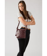 'Nikita' Plum Leather Cross Body Bag image 2