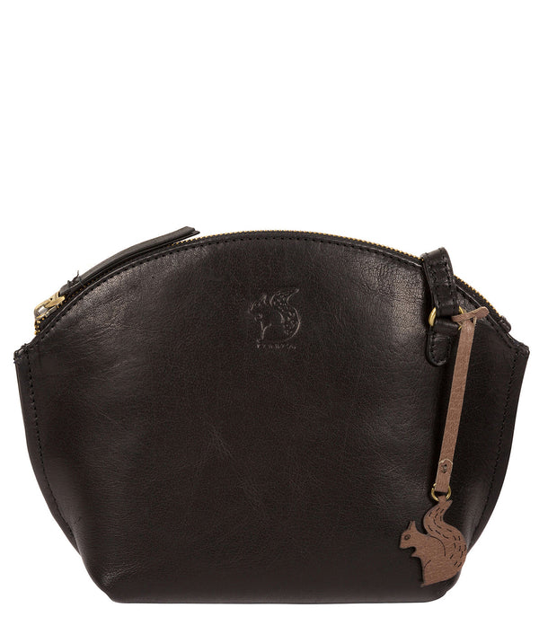 'Wym' Black Leather Cross Body Bag image 1
