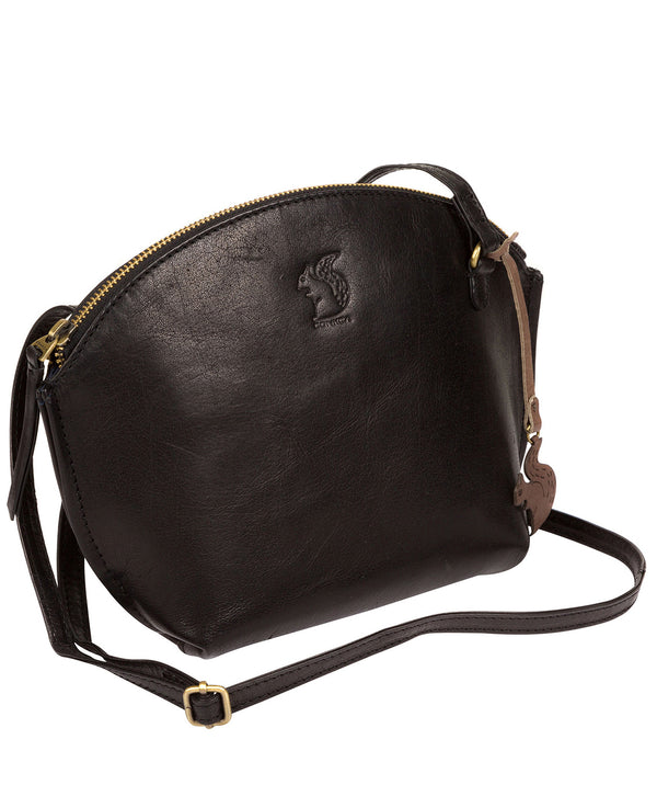 'Wym' Black Leather Cross Body Bag image 3