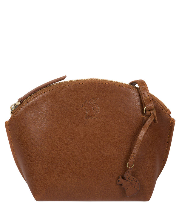 'Wym' Dark Tan Leather Cross Body Bag image 1
