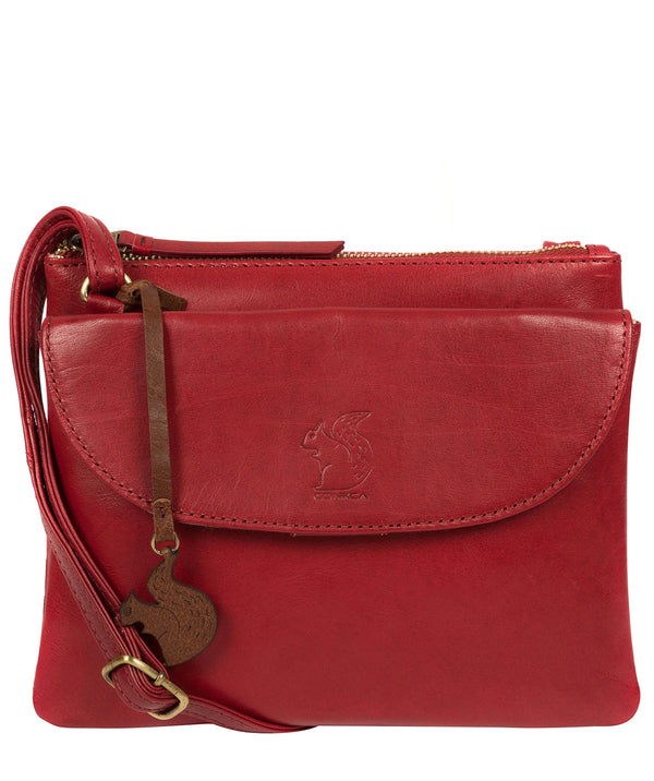 'Tillie' Chilli Pepper Leather Cross Body Bag image 1