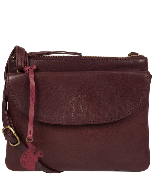 'Tillie' Plum Leather Cross Body Bag image 1