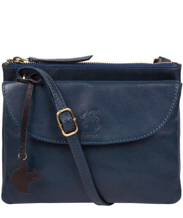 'Tillie' Snorkel Blue Leather Cross Body Bag image 1