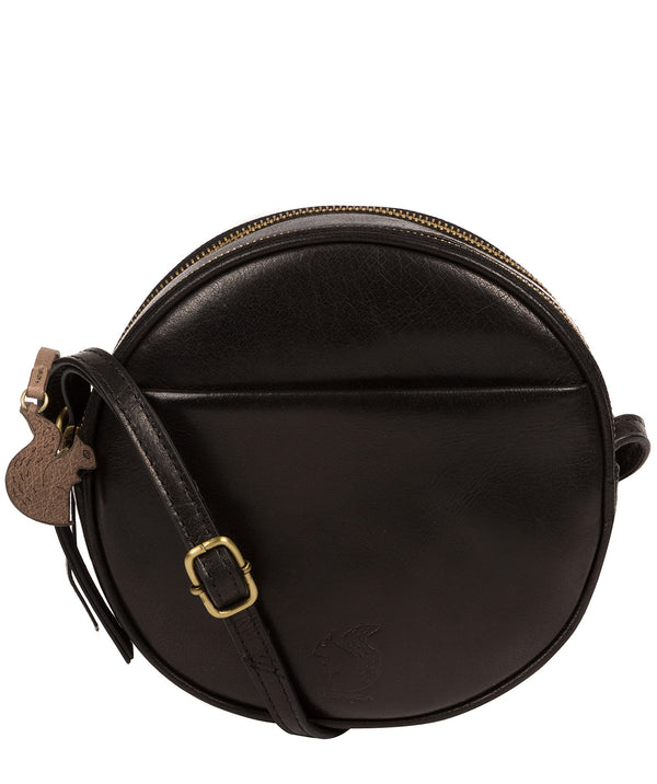'Rolla' Black Leather Cross Body Bag image 1