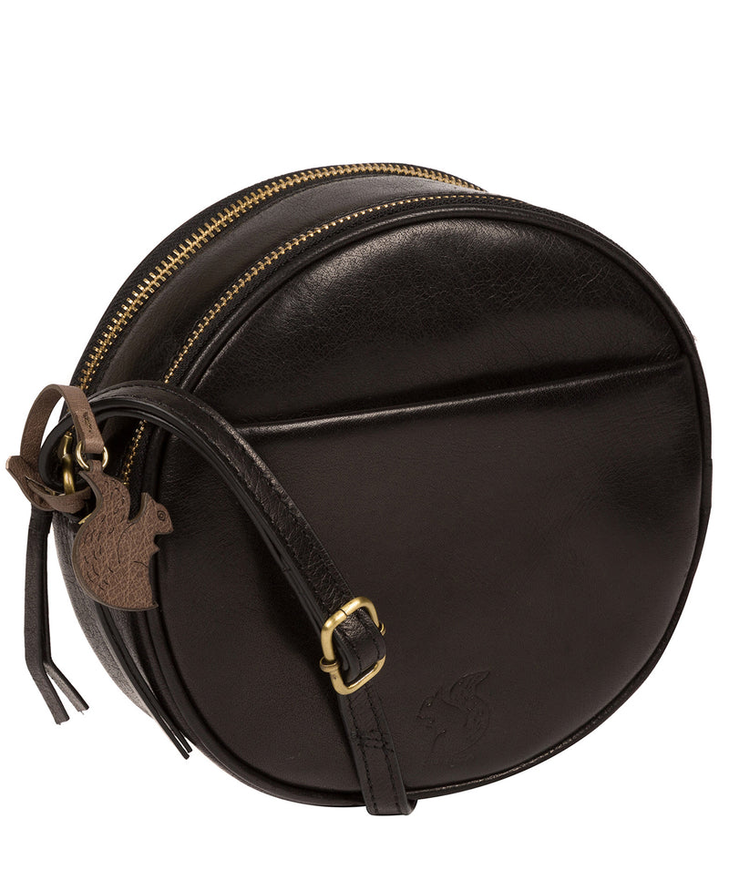 'Rolla' Black Leather Cross Body Bag image 5