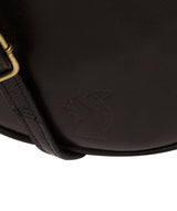 'Rolla' Black Leather Cross Body Bag image 6