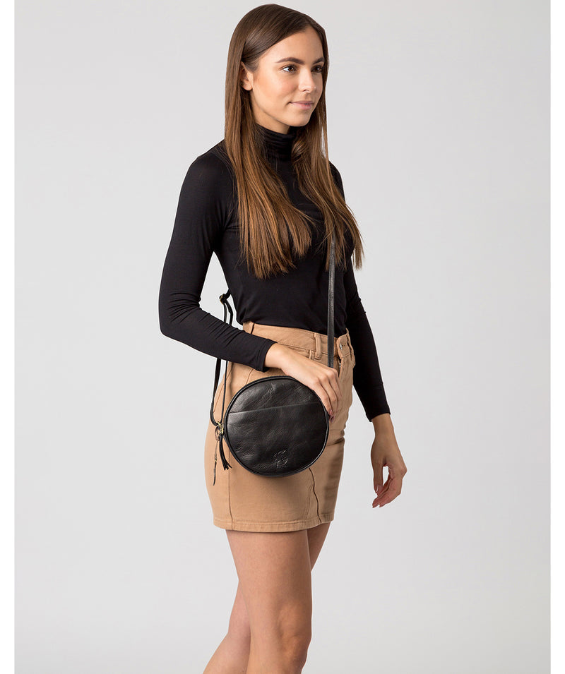 'Rolla' Black Leather Cross Body Bag image 2