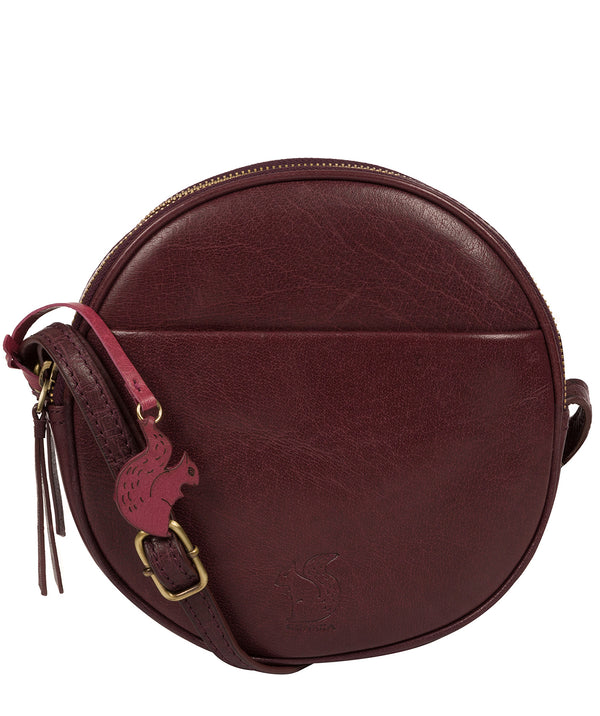 'Rolla' Plum Leather Cross Body Bag image 1
