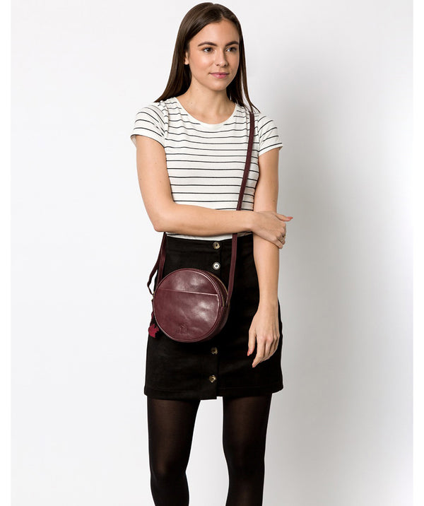 'Rolla' Plum Leather Cross Body Bag image 2