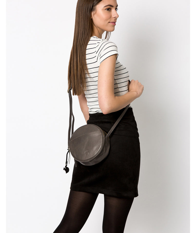 'Rolla' Slate Leather Cross Body Bag Pure Luxuries London