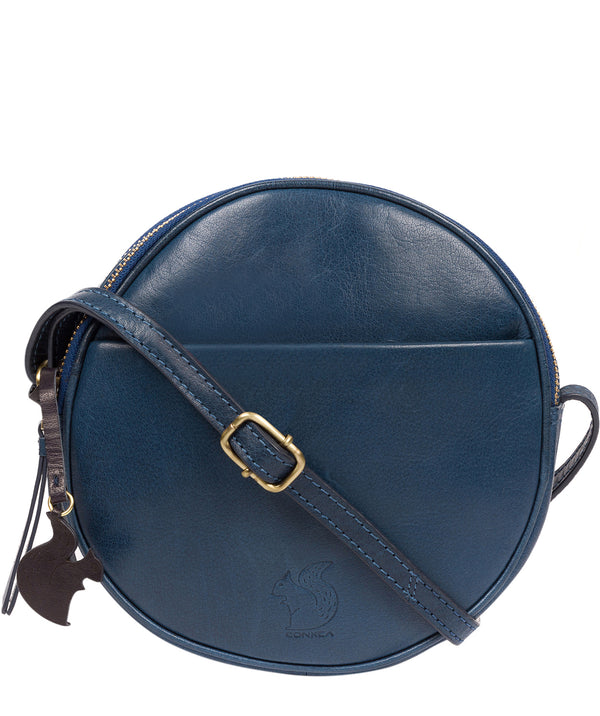 'Rolla' Snorkel Blue Leather Cross Body Bag image 1