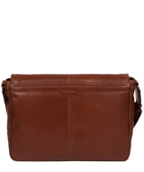 'Leao' Conker Brown Leather Messenger Bag image 3