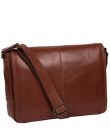 'Leao' Conker Brown Leather Messenger Bag image 5