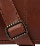 'Leao' Conker Brown Leather Messenger Bag image 6