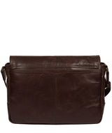 'Leao' Dark Brown Leather Messenger Bag image 3