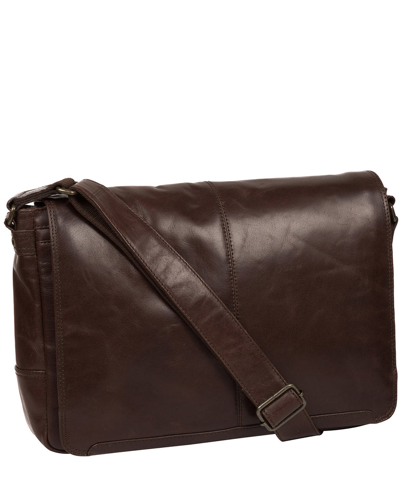 'Leao' Dark Brown Leather Messenger Bag image 5