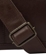 'Leao' Dark Brown Leather Messenger Bag image 6