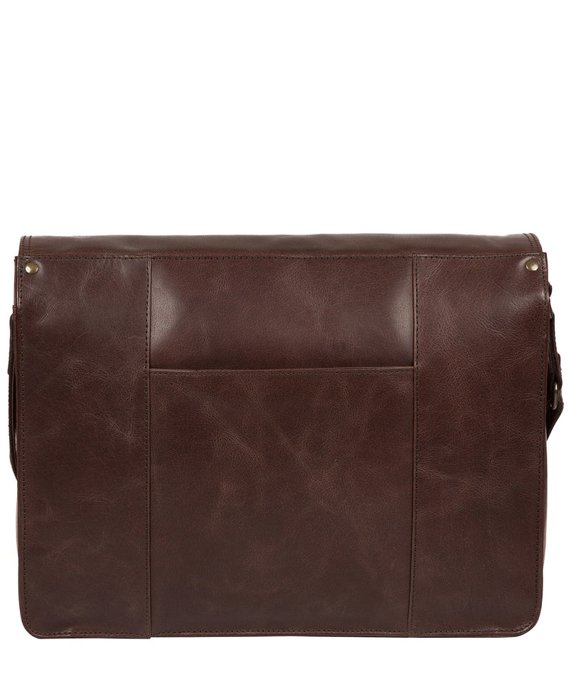 'Zico' Dark Brown Leather Messenger Bag image 3