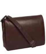 'Zico' Dark Brown Leather Messenger Bag image 5