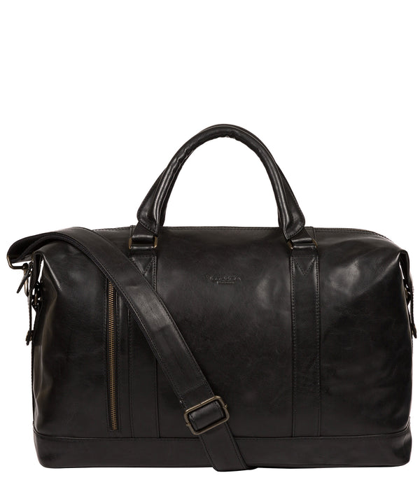 'Rivellino' Black Leather Holdall image 1